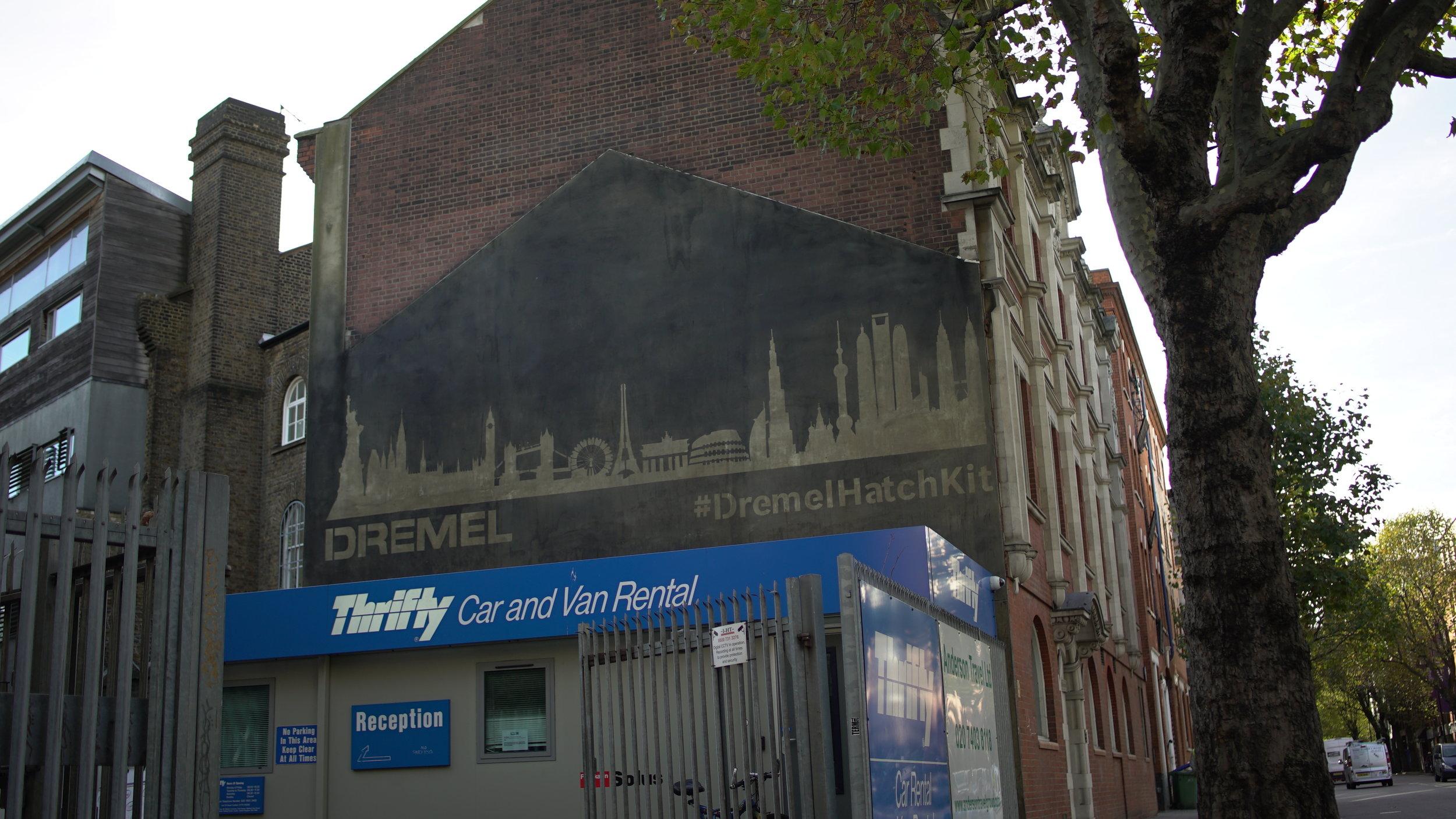 Reverse Graffiti Artwork London