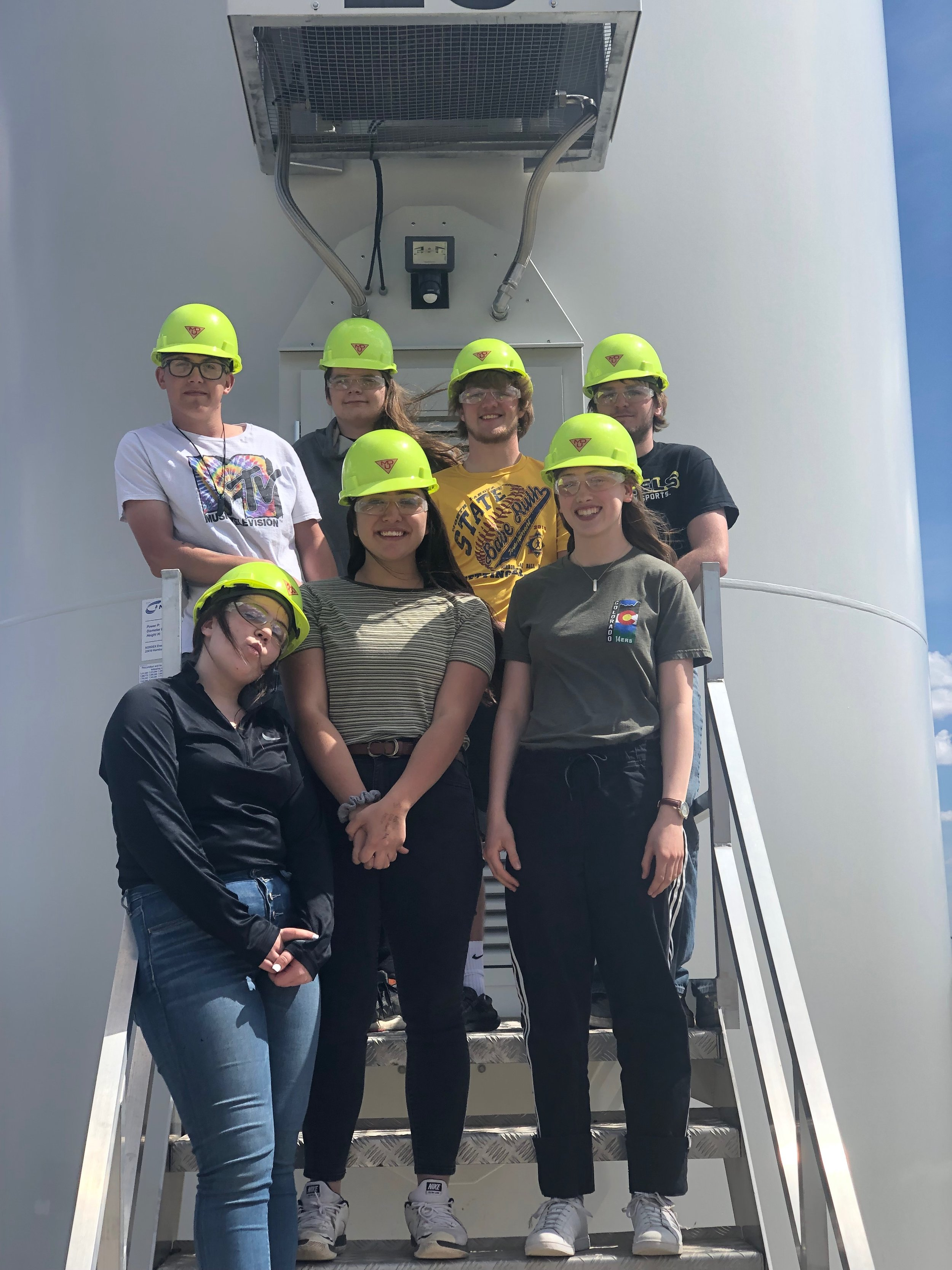 Adventures to the Thunder Spirit Wind Farm - The anthropology class lucky enough to spend the day with Darrin Holzer at the wind turbines north of town for a morning full of information and observation. MDU was gracious enough to let us check out the inner workings of the tower as well as observe the start and stop functions of a turbine.