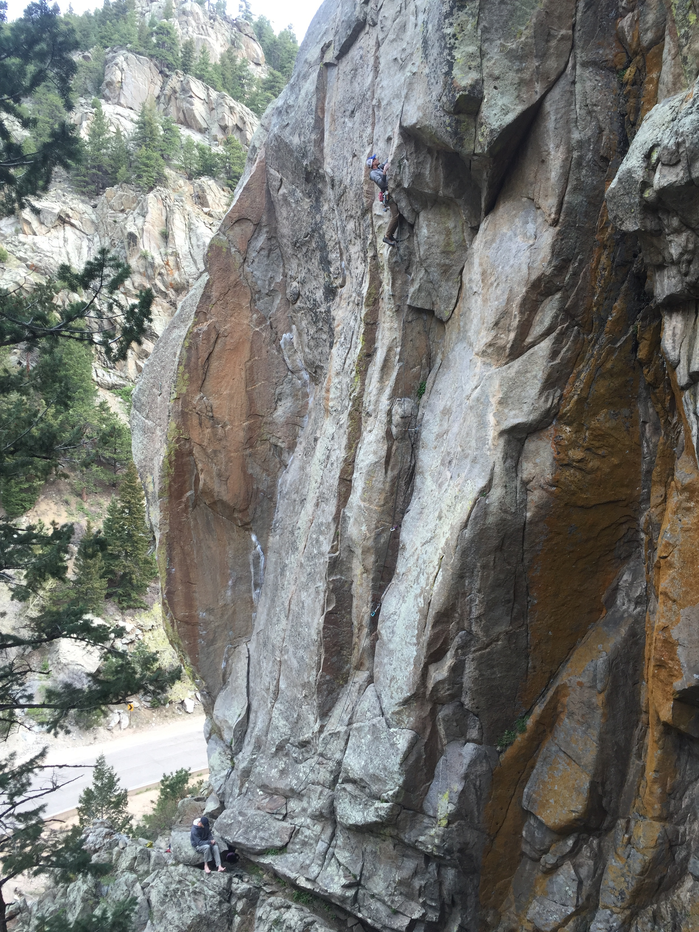 Ben Raiche and Roger Briggs on West Crack, Bell Buttress