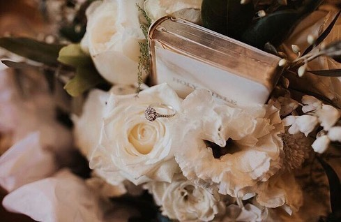 Lizzy & Daniel 🍃 ... We have been asked many times to include a special trinket/item in our brides bouquets, but this was the first time we were asked to include a family bible! We love going the extra mile for our clients, and we love a challenge 😋