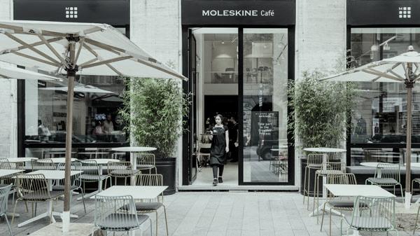 El café Moleskine en Milán.