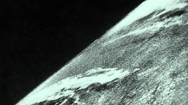 Primera foto desde el espacio, 1946.