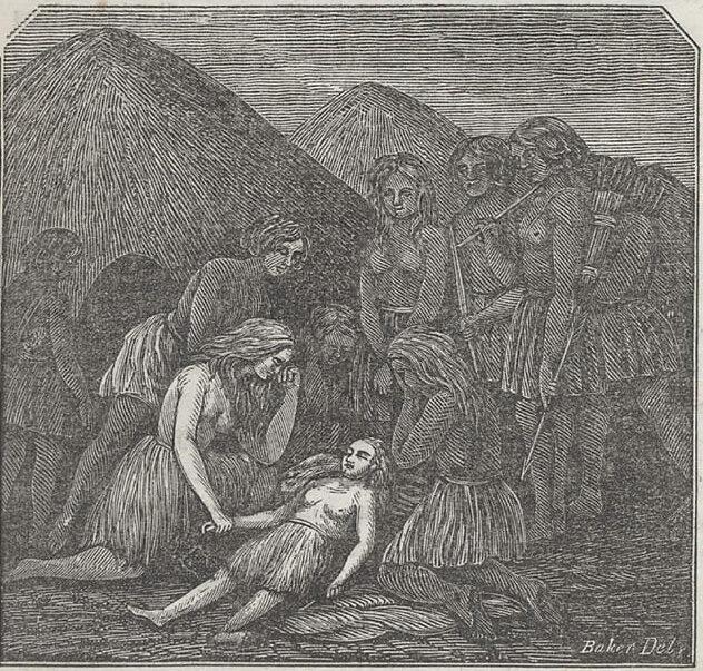 Captura de las niñas Oatman, 1857.