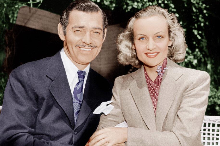 Clark Gable y Carole Lombard.