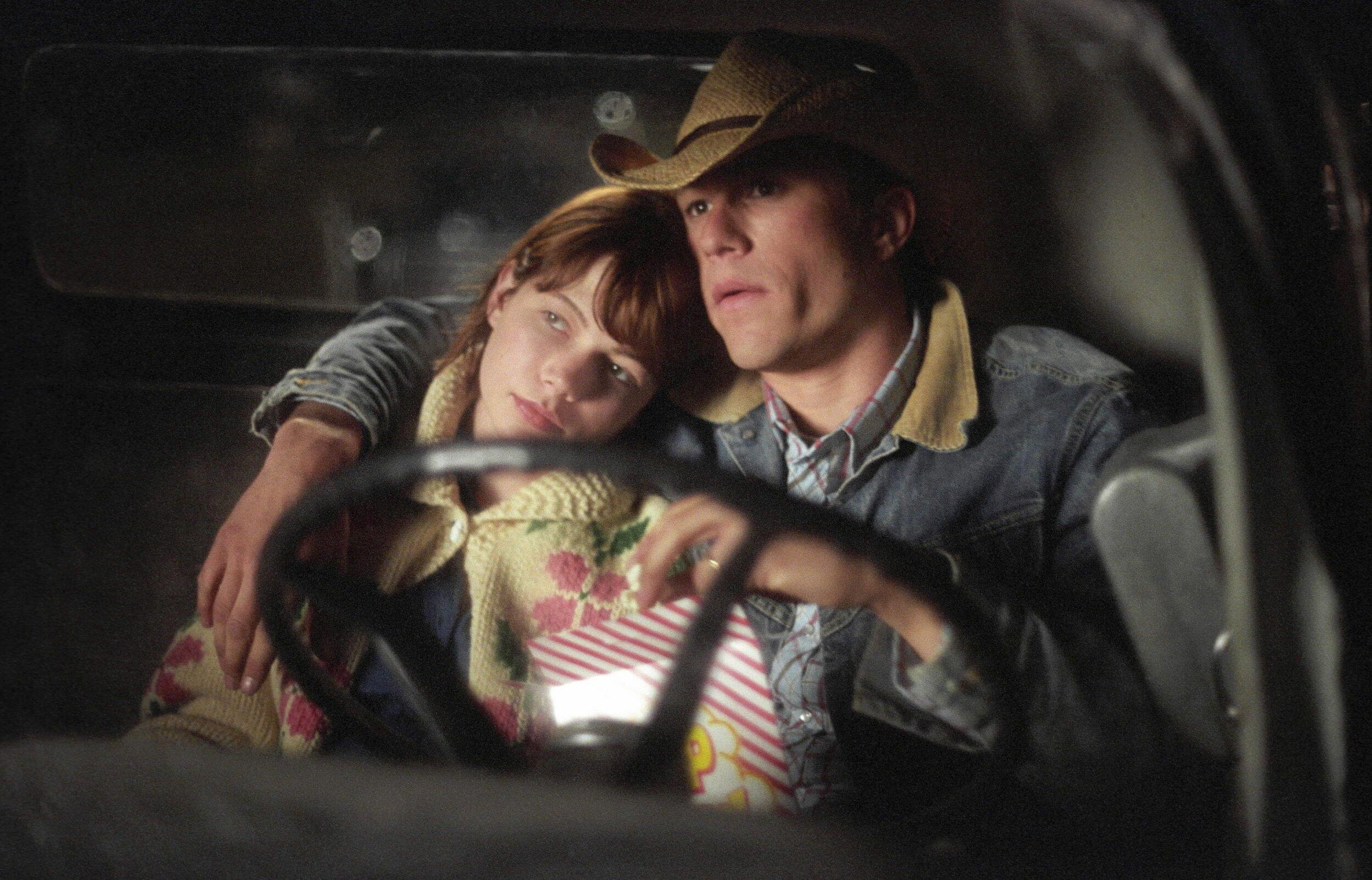 Heath Ledger y Michelle Williams en Brokeback Mountain.