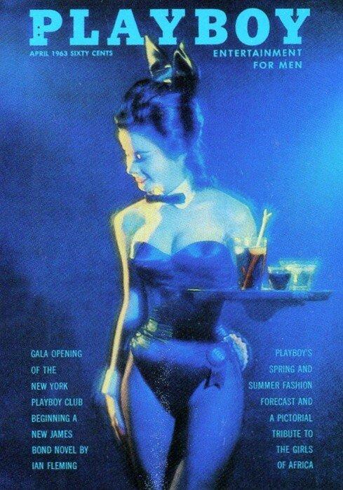 Portada de un Playboy de 1963, el año en el que Gloria Steinem se infiltró en uno de los clubs.