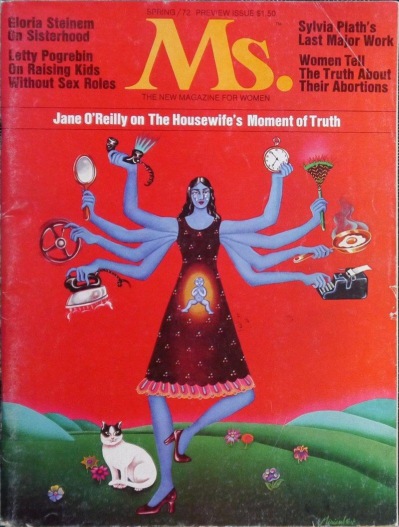 El primer número de Ms, la revista fundada por Gloria Steinem, 1972.