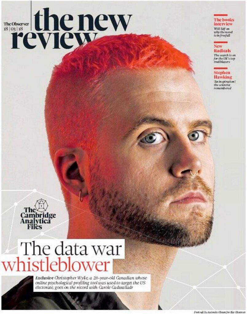 Portada del Observer con el exposé sobre Cambridge Analytica.