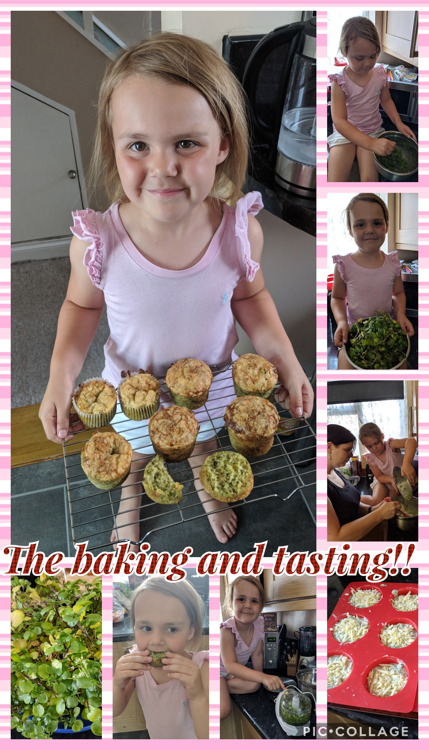 The winning watercress and cheese muffins, they look delicious.