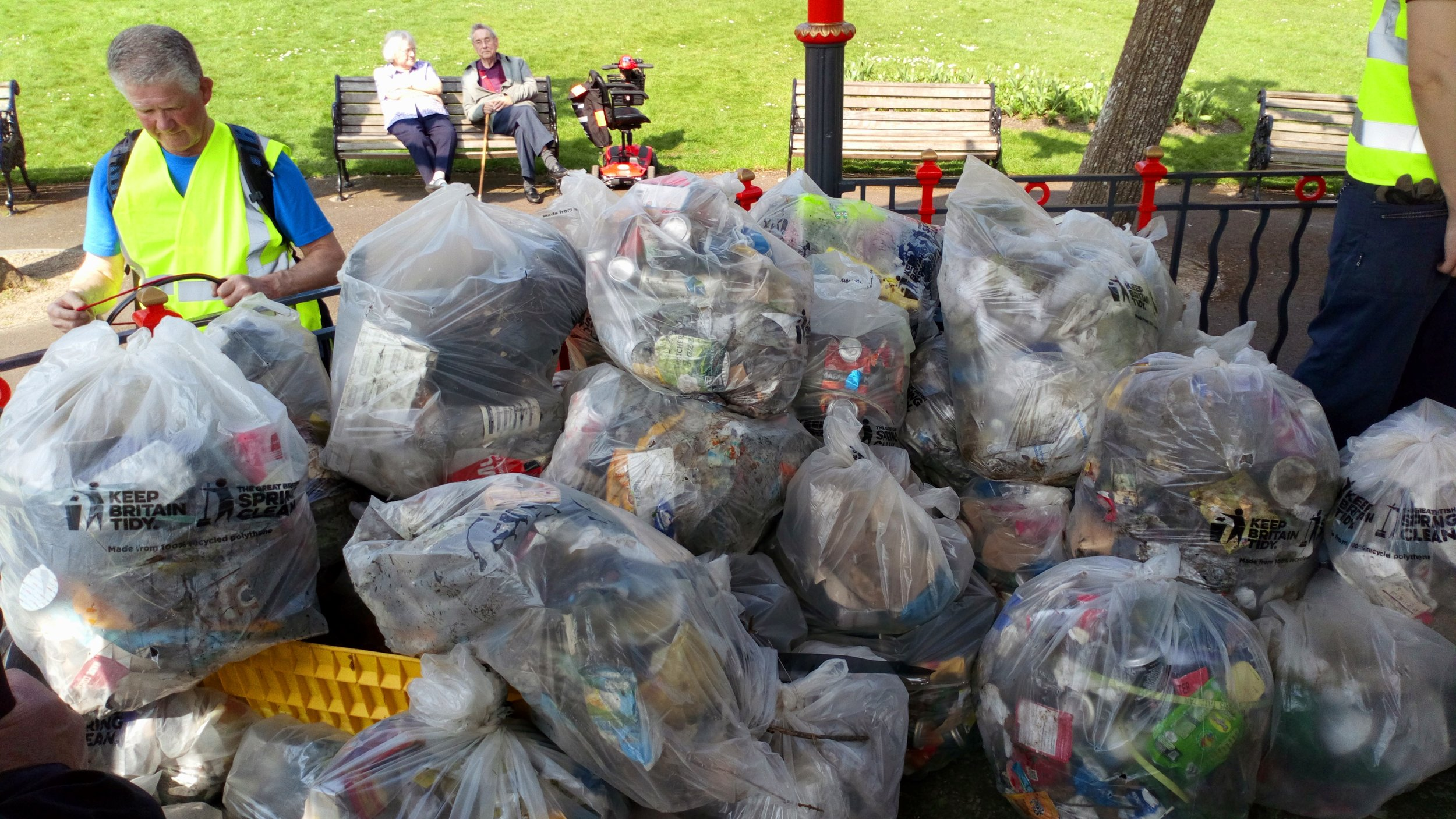 What a load of rubbish!!! Just some of the waste collected by the Plastic Free Dorchester on Saturday.