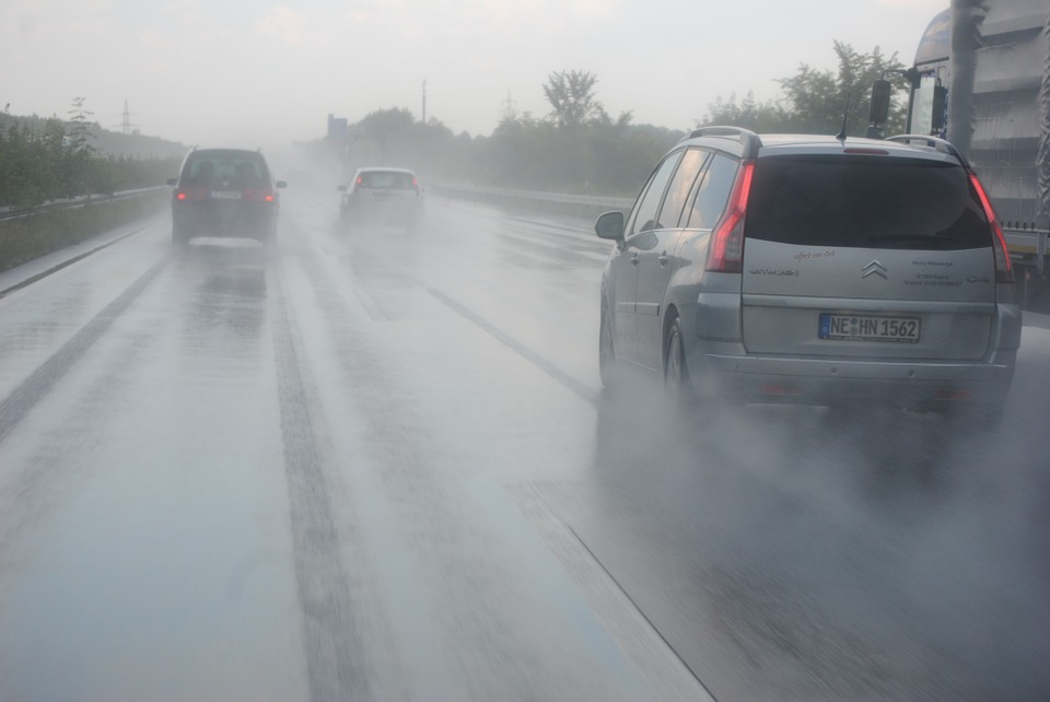 Driving in the rain -