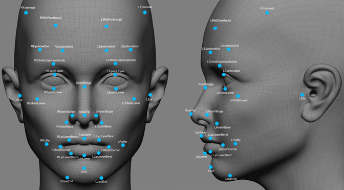 Most facial recognition algorithms identify individuals by analysing unique facial features such as the relative position of the nose, eyes and/or mouth.Courtesy of  eForensicsMag