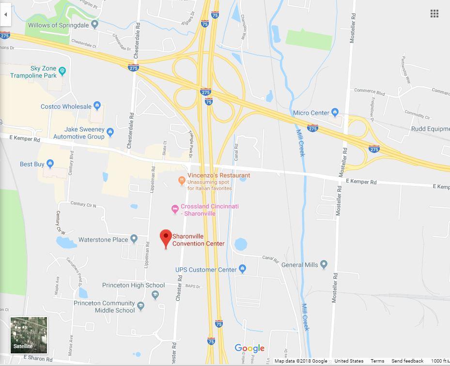 Sharonville Convention Center, 11355 Chester Rd, Cincinnati, OH 45246
