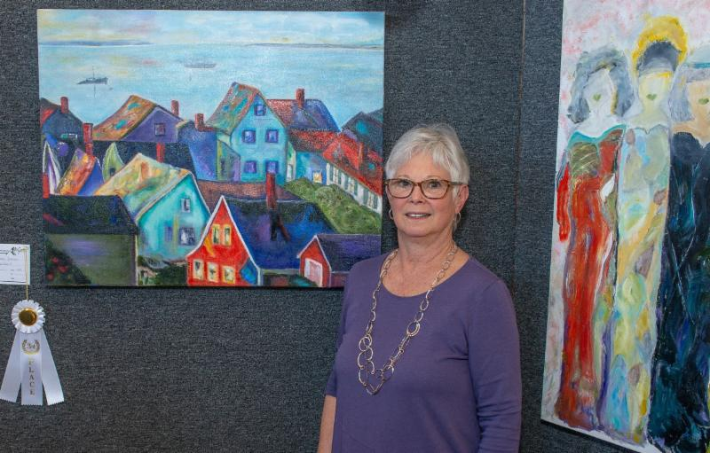 "Susan Reichbart's won third place for her oil ""Provincetown Dreams"""