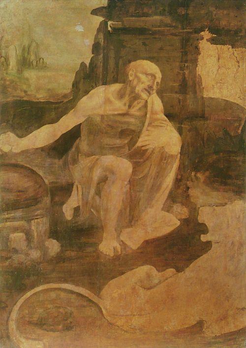 "Leonardo's ""St Gerome"" (underpainting)"