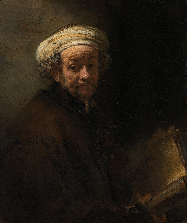 """Rembrandt """"Self Portrait as the Apostle Paul"""""""