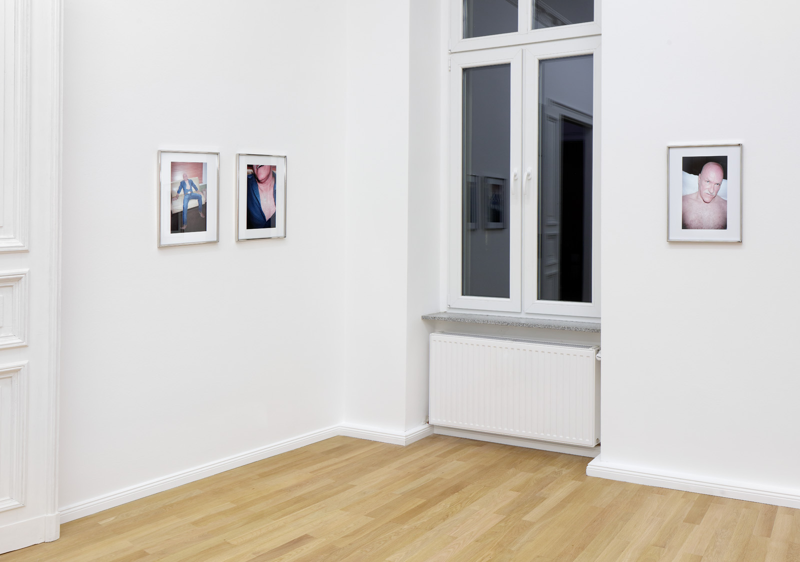 Installation view, Kayode Ojo,  Closer  Left to Right:  Silver (Dallas) II , 2018;  Silver (Dallas) I , 2018;  Silver (Dallas) IV , 2018