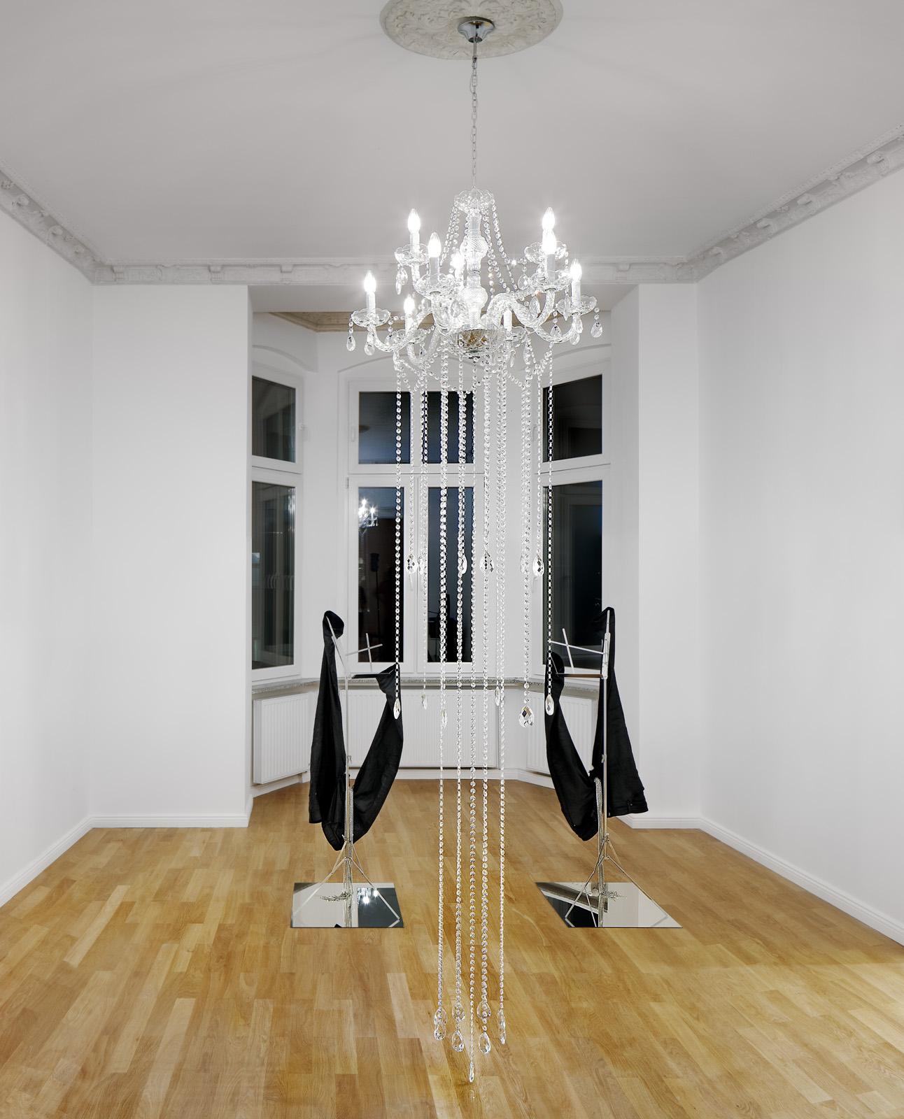 Installation view, Kayode Ojo,  Closer  Left to Right:  Kravitz, Stockholm (ZARA) , 2018;  He Valued His Privacy , 2018;  Kravitz, Stockholm (ASOS) , 2018