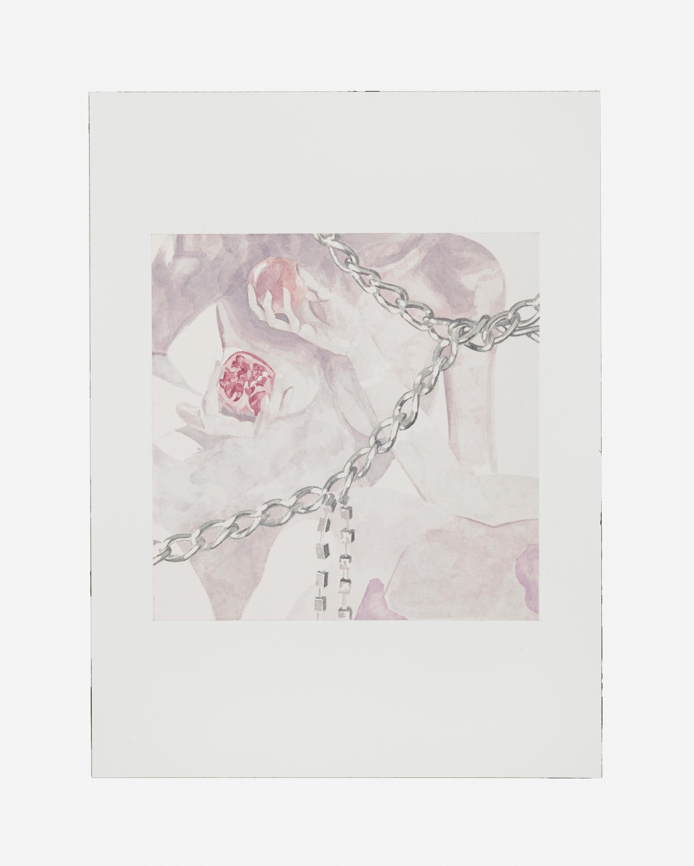 Friedemann Heckel,  Untitled (Instagram Aquarell #7) , 2017 Watercolor on paper