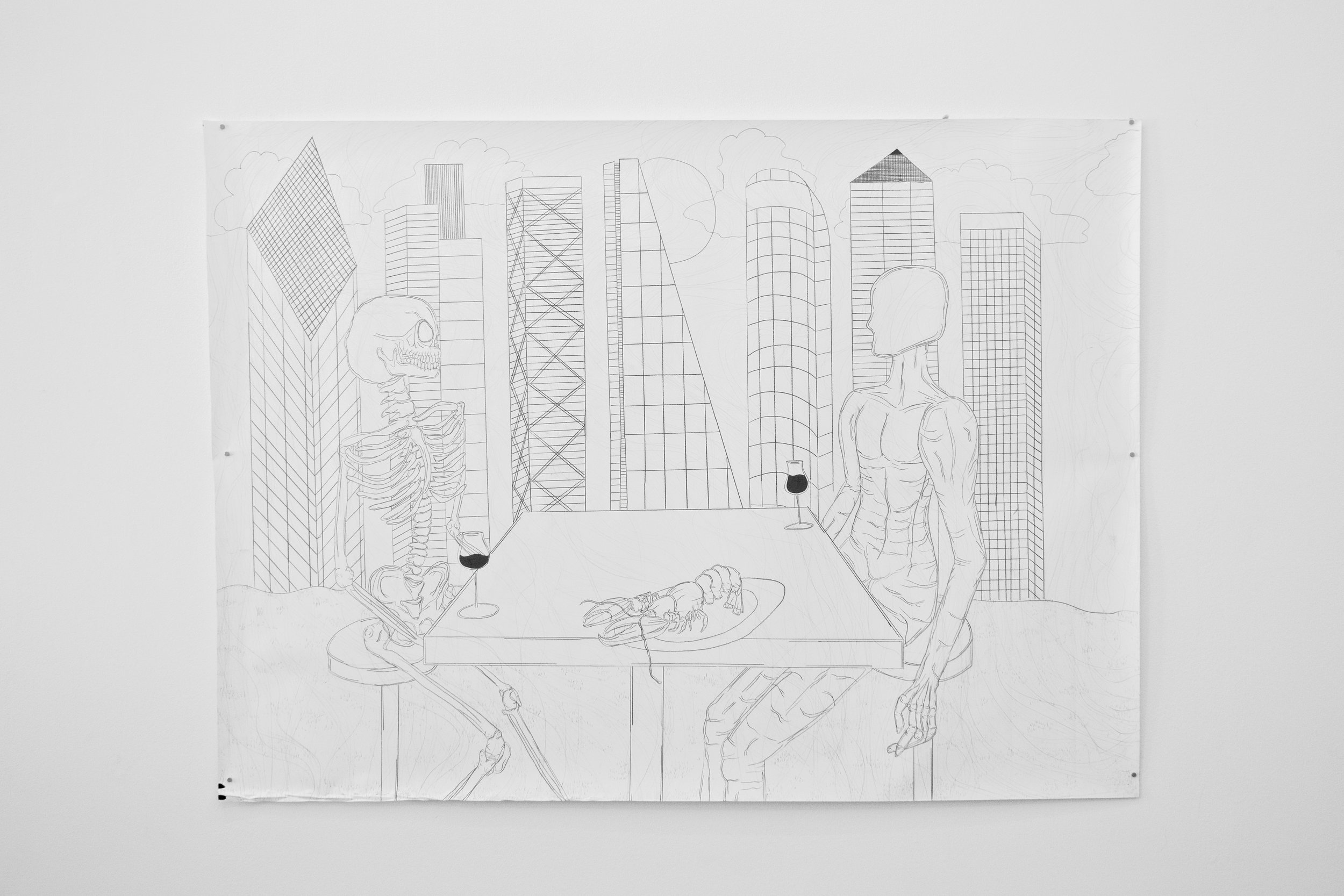 Sell Me 4 City Money , 2019 Graphite on paper 150 x 205 centimeters 59 x 80.5 inches