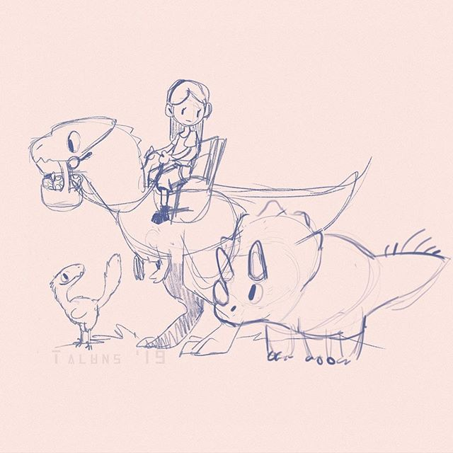 The origin of our wee dinosaur farming game! Created at the 2019 global gamejam, by @dakotaraptor . - - - #gamedev #indiedev #games #indiegames #game #art #dinosaur #allosaurus #triceratops #raptor #deinonychus #Character #characterdesign #cute #gameart #art #digitalart