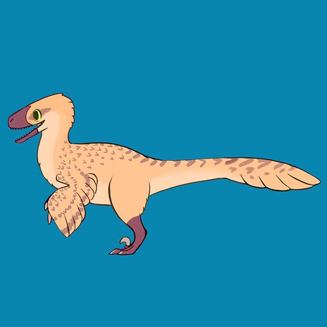 Deinonychus design by the talented @talunsart ! - - - #gamedev #indiedev #games #indiegames #game #art #dinosaur #paleoart #deinonychus #raptors #raptor #creaturedesign #creature #gameart #digitalart #photoshop