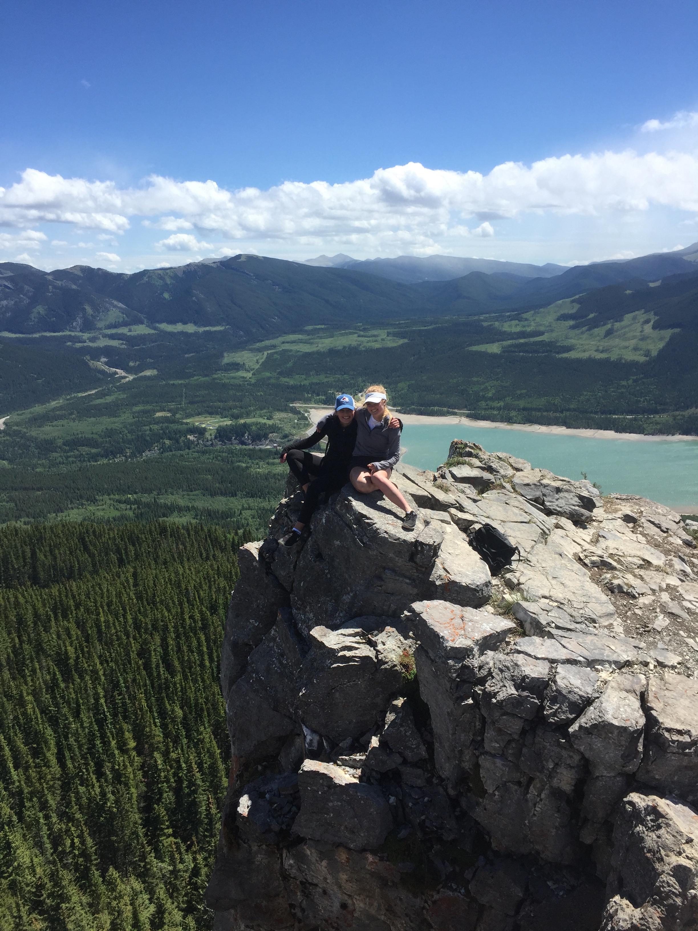 Tess O'Hara & Mary Peplinski out on a beautiful hike.