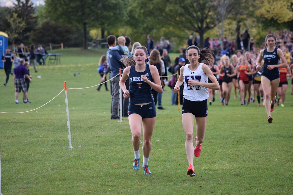 This photo was taken at the 2017 Marauder Bayfront Open in Hamilton, Ontario while racing for Western University's Varsity Cross Country team.