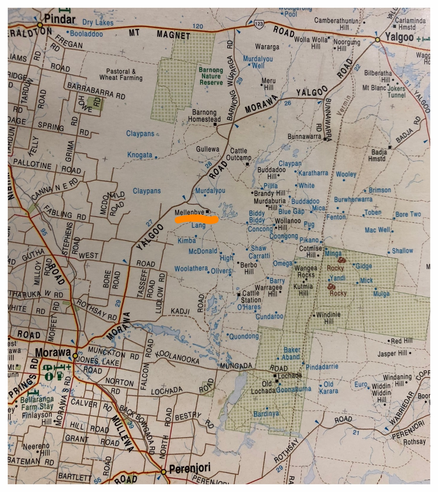 Mellenbye Homestead and Station Stay Entrance is 47.6 kilometers North from Morawa on the Sealed Morawa Yalgoo Road.