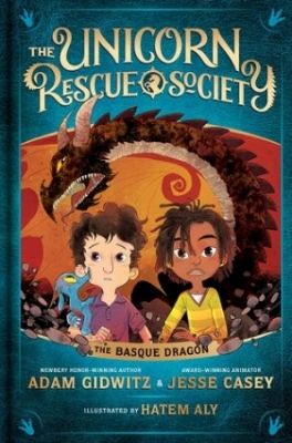 Elliot and Uchenna—and Jersey!—have barely recovered from their first adventure with Professor Fauna when he approaches them with an all-new quest. Except this time they're going to have to cross an ocean. In the mountains of the Basque Country, the Unicorn Rescue Society must track down a missing dragon. But how could someone even kidnap a dragon? And for what evil purpose? And is their newest, fire-breathing rescue more than they can handle?   New challenges await in this second book in the Unicorn Rescue Society series, a brand-new fantasy-adventure from Adam Gidwitz. Illustrated throughout, it's the perfect fit for newly independent readers looking for a story full of adventure, fun, and friendship.  Releases July 10