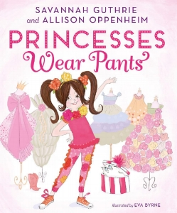 Princesses Wear Pants  follows the unflappable Princess Penelope Pineapple, who knows how to get the job done while staying true to herself. Princess Penelope lives in a beautiful palace with a closet full of beautiful dresses. But being a princess is much, much more than beauty. In fact, every morning Princess Penelope runs right past her frilly dresses to choose from her beloved collection of pants!  What she wears each day depends on which job she has to do. Will she command the royal air force sporting her sequined flight suit? Will she find her zen in her yoga pants and favorite tee? Or, will she work in the kingdom's vegetable garden with pocketed overalls for all of her tools?  Unfortunately for Princess Penelope, not everyone in the Pineapple Kingdom thinks pants are always appropriate princess attire. When the grand Lady Busyboots demands that Princess Penelope must wear a gown to the annual Pineapple Ball, the young royal finds a clever way to express herself. Penelope's courage (and style choices) result in her saving the day!