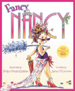 Meet Nancy, who believes that more is ALWAYS better when it comes to being fancy. From the top of her tiara down to her sparkly studded shoes, Nancy is determined to teach her family a thing or two about being fancy and using fancy words.  How Nancy transforms her parents and little sister for one enchanted evening makes for a story that is funny and warm—with or without the frills.