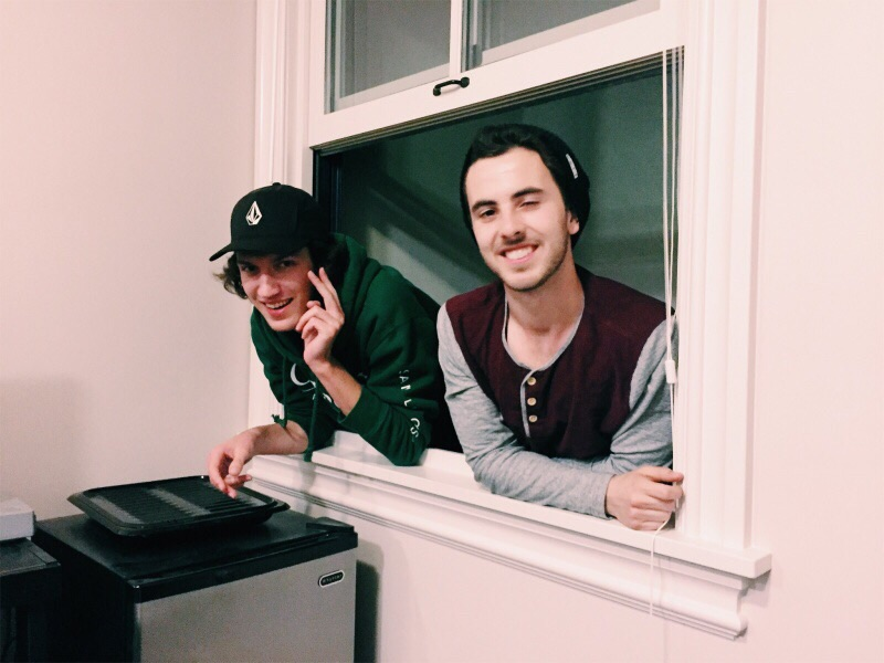 Here's a goofy one of me (left) and Jack just hanging out my apartment window last year. PC: Taylor K.