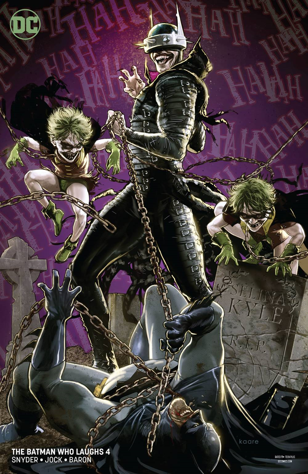 Batman Who Laughs #4 cover by Kaare Andrews