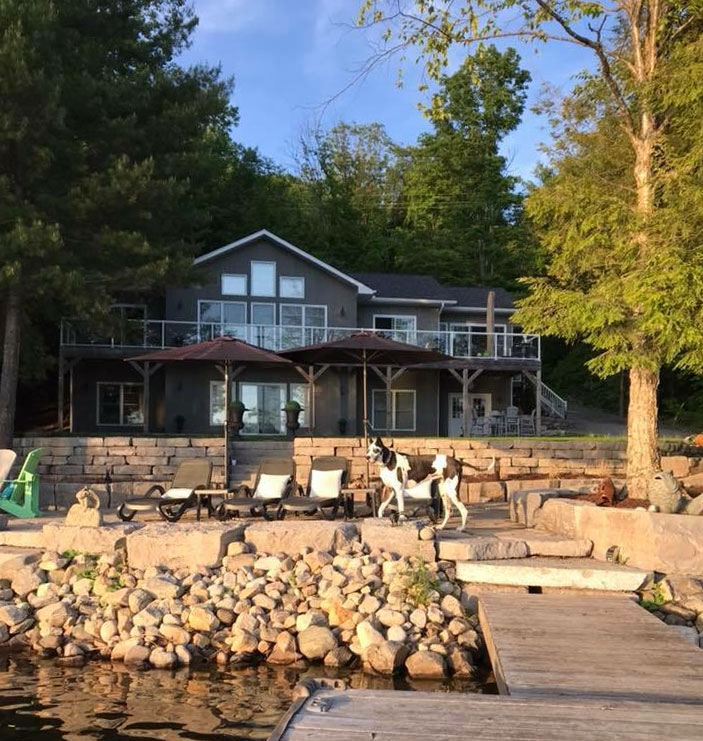 Custom Haliburton Cottage Lakefront View