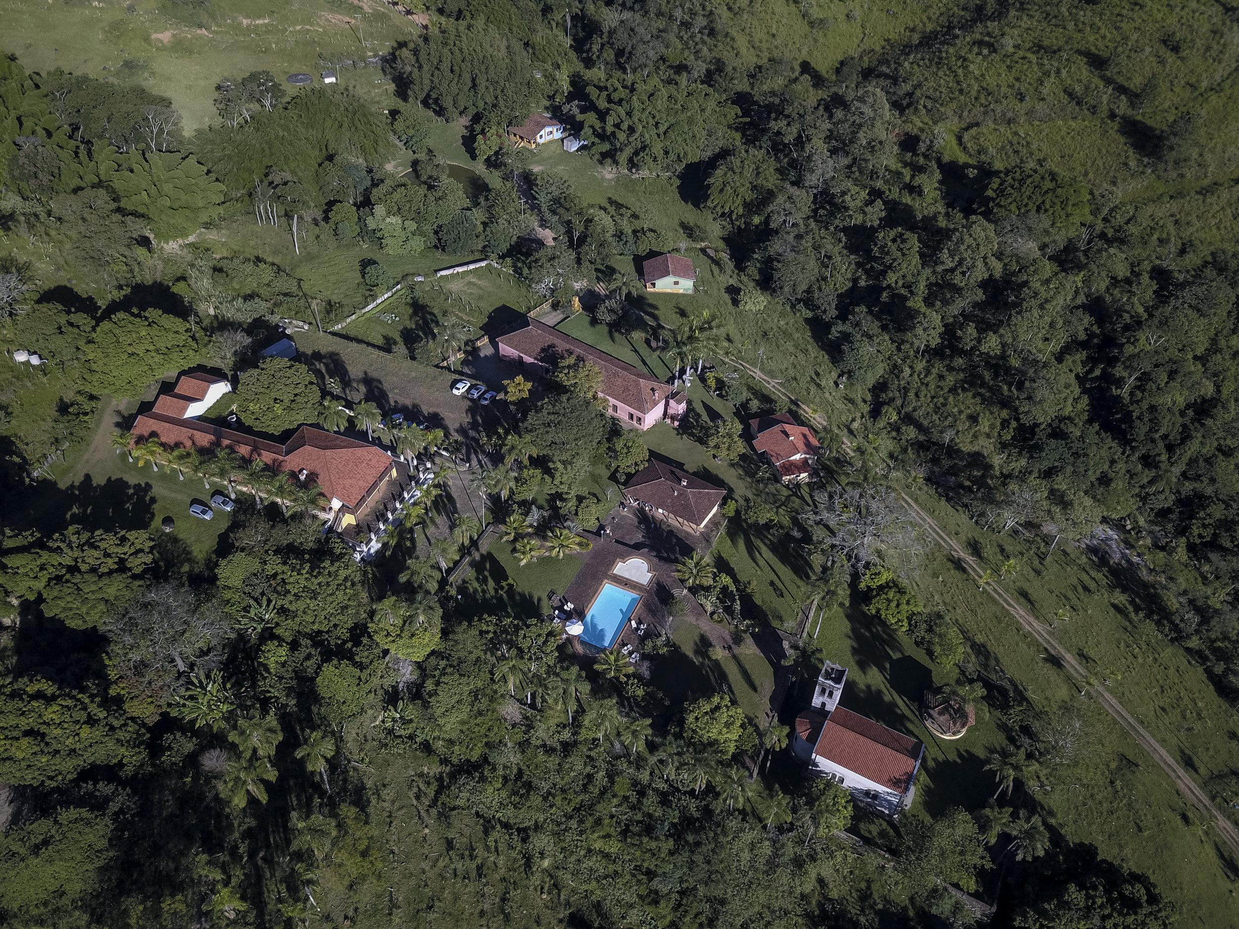 Vista aérea da Fazenda Santa Esther.