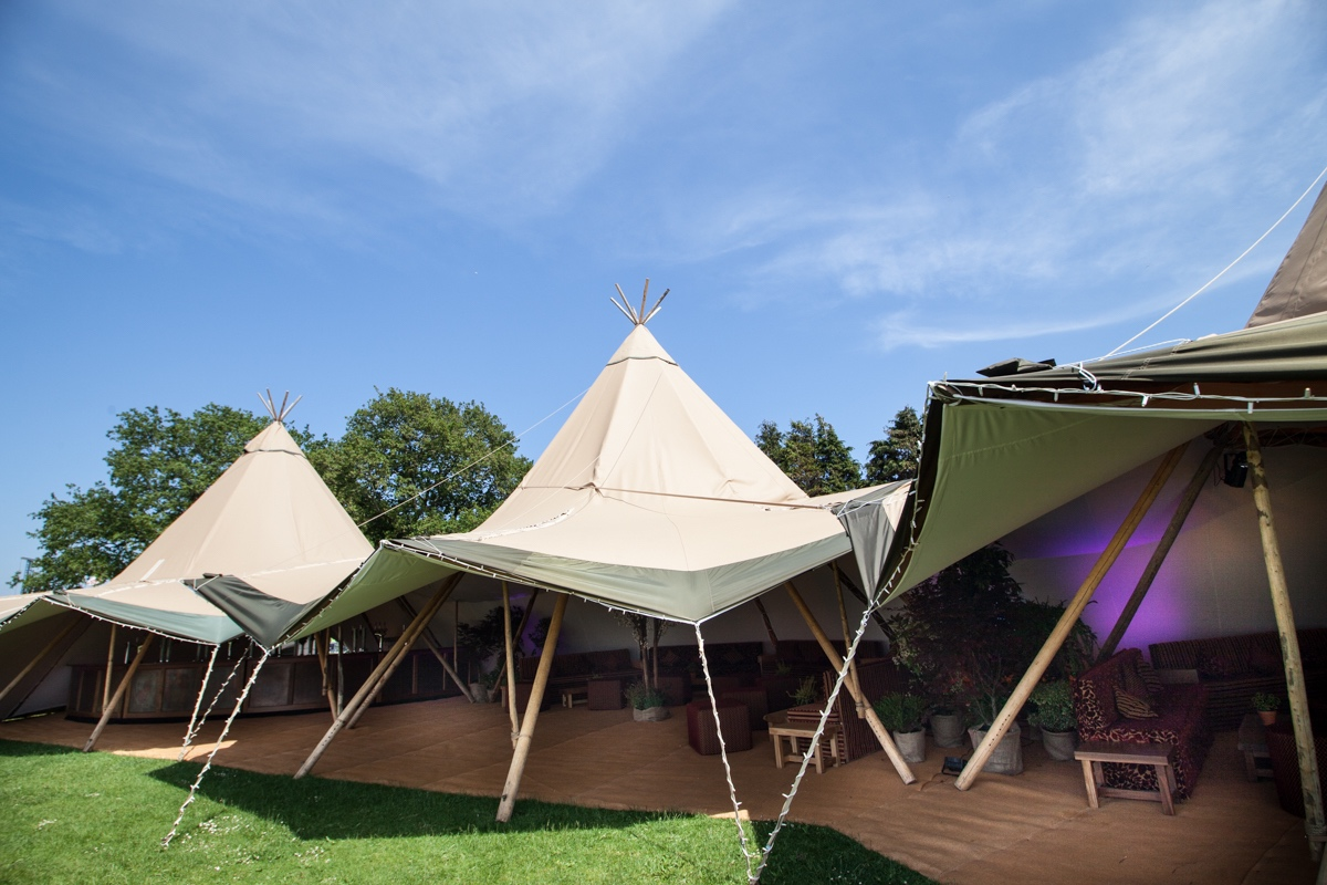 Branded festival event marquee hire