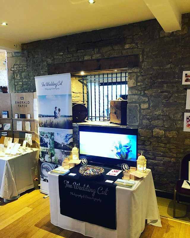 We are delighted to be exhibiting at the wonderful @thegreattythebarn today. Come down and meet a man in tweed (Ben) #wedding #weddingvideography #cotswolds #cotswoldsweddings