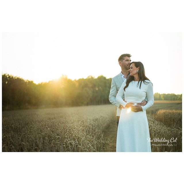 Couldn't resist sharing some of these screen grabs from our video footage. Quick grade, and using #filmconvert we are chuffed by how this footage is turning out. #sunset #goldenhour #goldenwheat #frogmillwedding #frogmill #thefrogmill  Main photography by the always incredible @eve_dunlop_photography. Check out here Instagram feed for some proper photos. #isaidyes #weddingdress #weddinghair #cotswoldweddingvideographer #cotswoldweddingvideo #theweddingcut