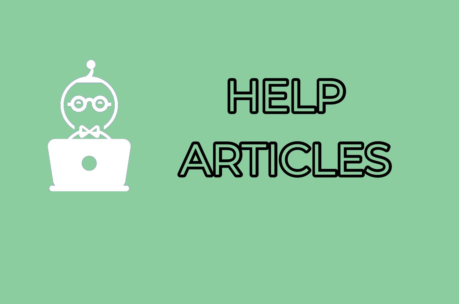 HELP ARTICLES    OPEN
