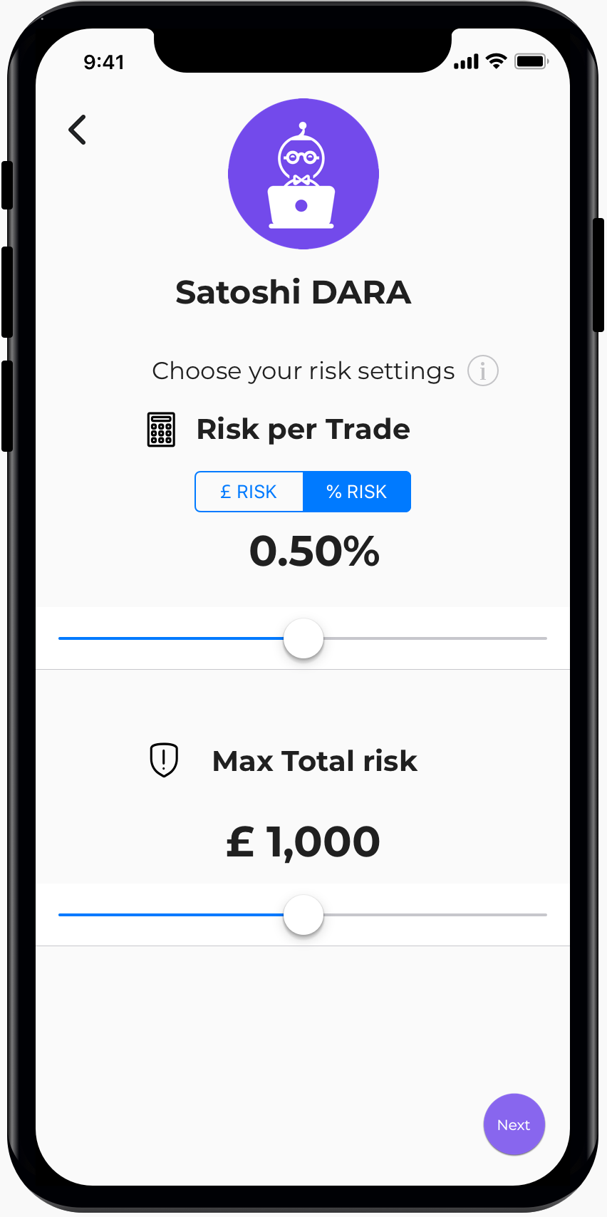 Select your risk level