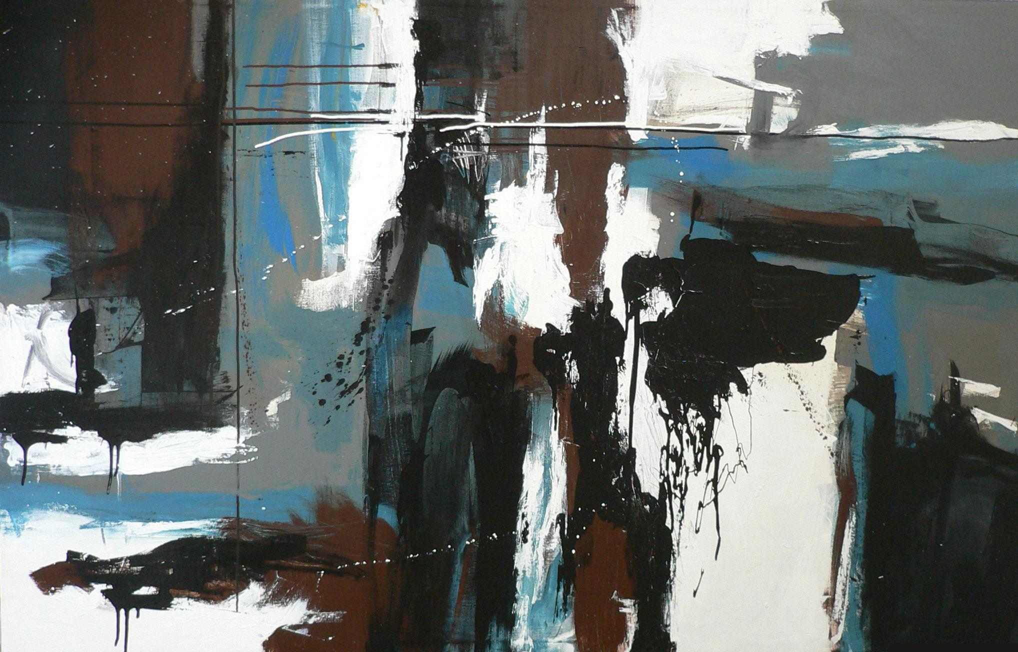 Night , 150 x 170 cm, mixed media on canvas, 2006, Collection of Mr Koh Seow Chuan