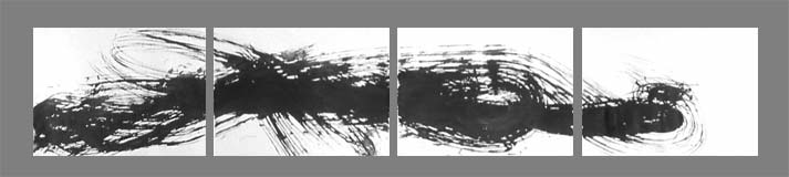 Instinct , 41 x 224 cm, Chinese ink on watercolour paper, 2001, Private Collection