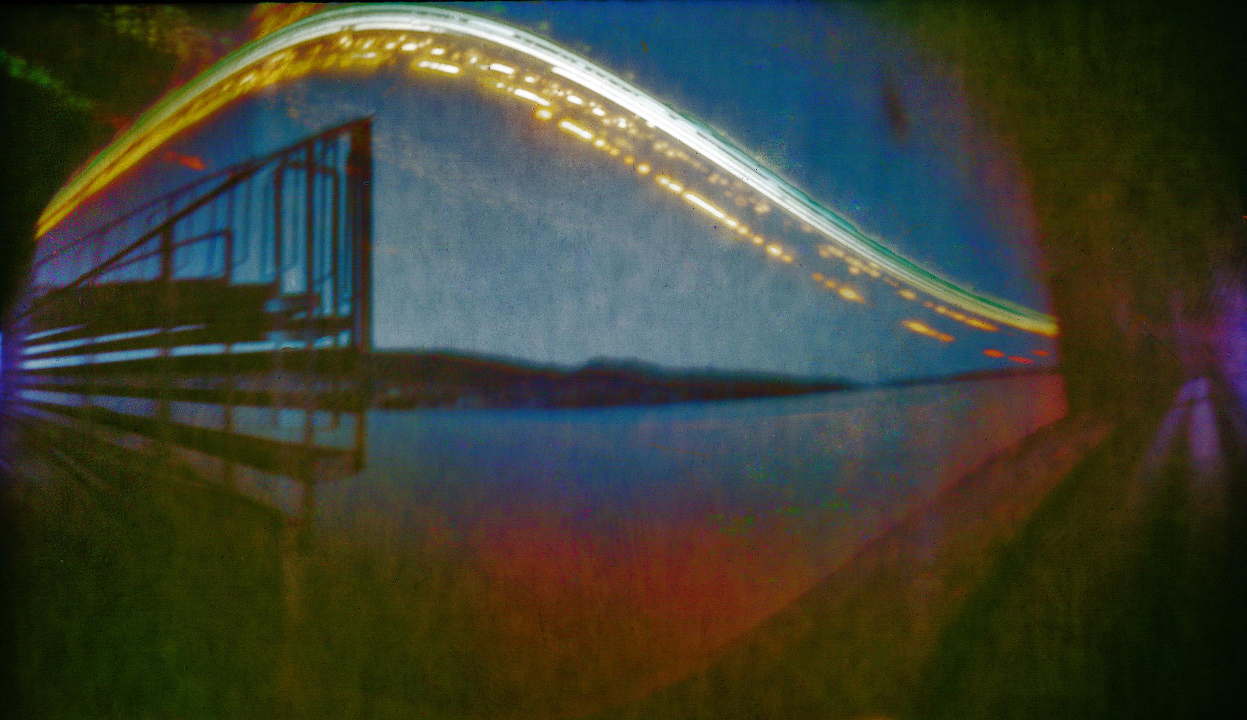 Bergen Solargraphy Series l , 23 x 38 cm, digital print on plexiglass, 2018