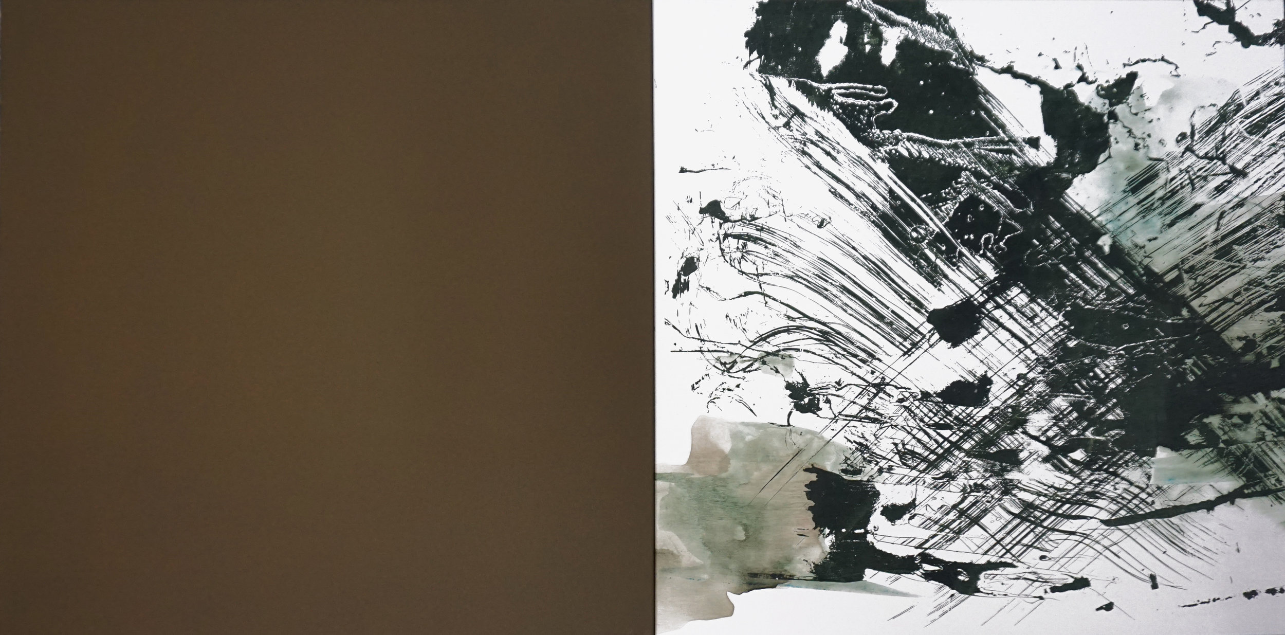 Forest Wind,  55 x 110 cm, silkscreen paint and ink on canvas, 2017, Private Collection