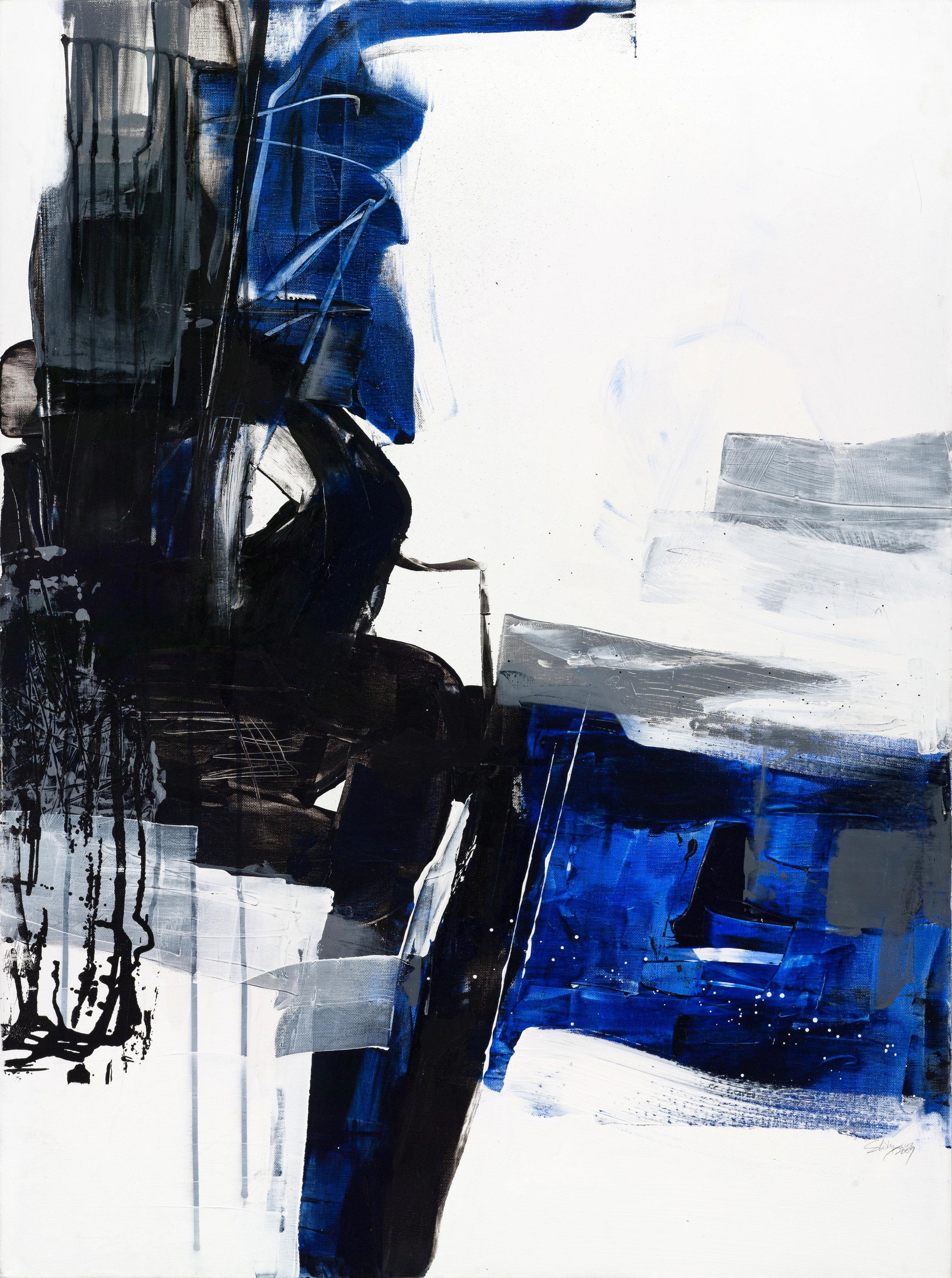Defy #1 , 100 x 76 cm, mixed media on canvas, 2009