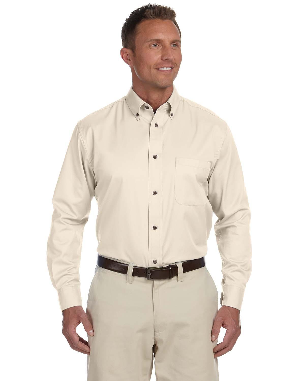 Harriton Long Sleeve Button Down #M500