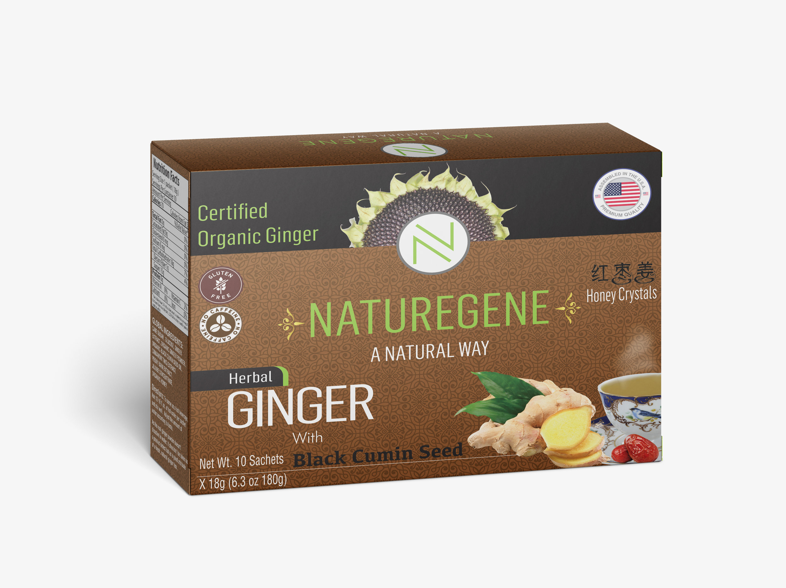 NatureGene Ginger Honey Crystal  - With Black Cumin Seed 6 oz