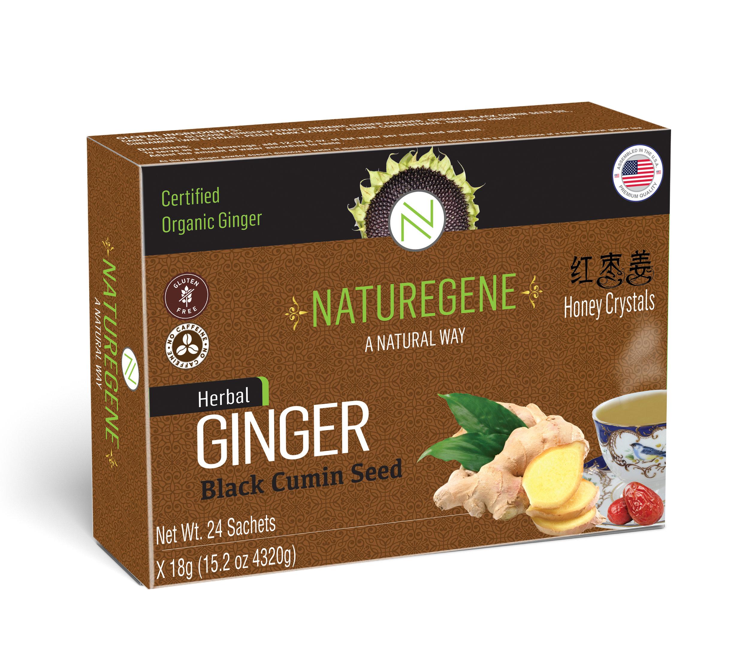 NatureGene Ginger Honey Crystal - with Black Cumin Seed 15 oz