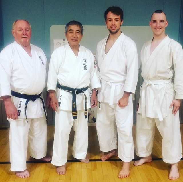 It was an absolute pleasure training with Tamayose Sensei, Shapland Sensei, and the rest of Teshinkan Ryukyu Kobudo in Chilliwack, Canada this past weekend. Two days of weapons training with some of the most humble and encouraging people, what an experience! It's good to remember the beginner's mind (shoshin) is such an important part of this journey. You're always going to be a white belt in something, so strive to practice the basics and see them transform you. We hope to see you all again very soon! #karate #kobudo #chilliwack #teshinkan #kobudo #shudokan #karate #morrismack #sensei #weapons #bo #sai #nunchaku #tekko #kama #eku #tradition #whitebelt #blackbelt